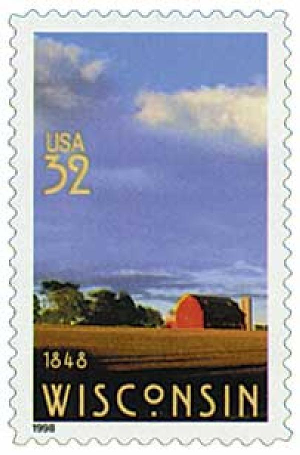 1998 32c Wisconsin