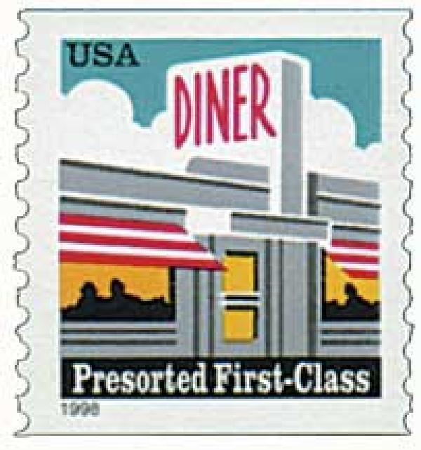 1998 25c Diner, non-denominational coil