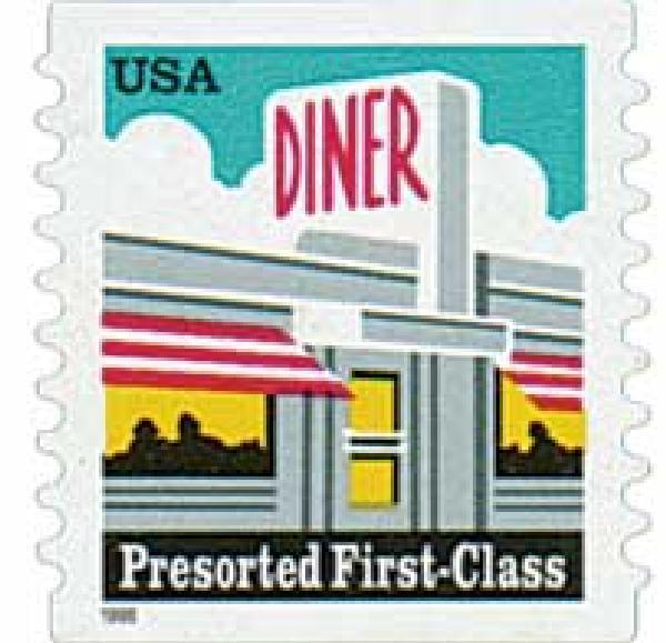 1998 25c Diner, self-adhesive coil