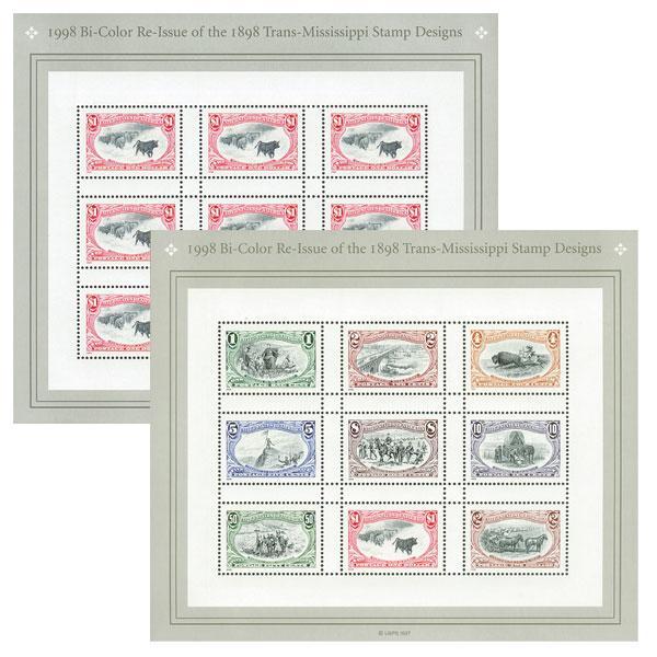 1998 Trans-Mississippi, set of 2 sheets