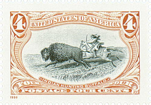 1998 4c Trans-Mississippi: Indian Hunting Buffalo