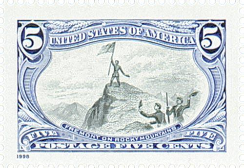 1998 5c John C. Fremont on Rocky Mountains