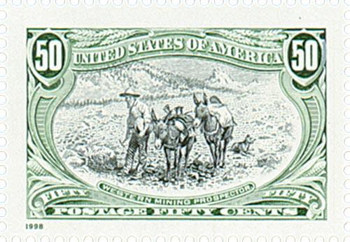 1998 50c Trans-Mississippi: Western Mining Prospector