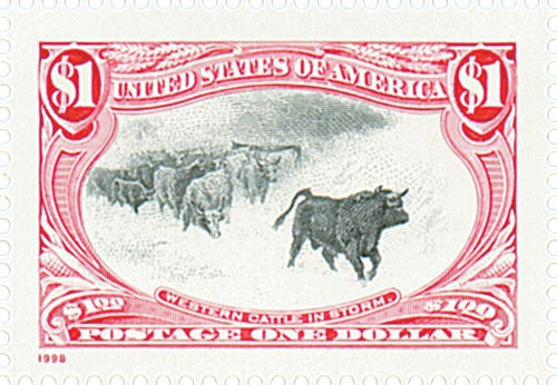 1998 $1 Trans-Mississippi: Western Cattle in Storm
