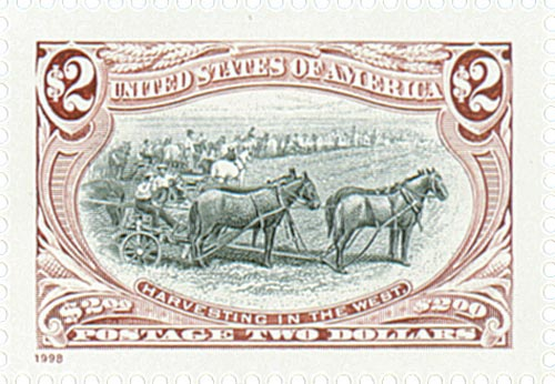 1998 $2 Trans-Mississippi: Harvesting in the West