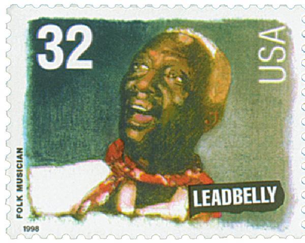 1998 32c Folk Musicians: Huddie Leadbelly Ledbetter