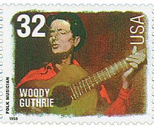 1998 32c Folk Musicians: Woody Guthrie