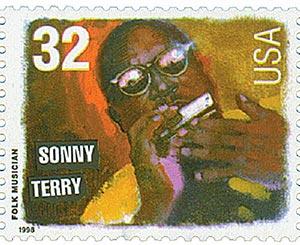 1998 32c Folk Musicians: Sonny Terry