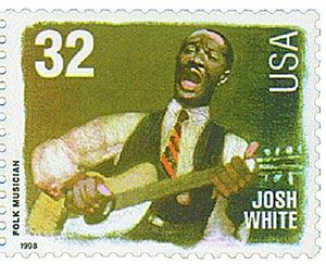1998 32c Folk Musicians: Josh White