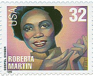 1998 32c Gospel Singers: Roberta Martin