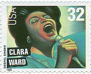 1998 Clara Ward stamp