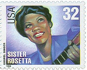 1998 32c Gospel Singers: Rosetta Tharpe