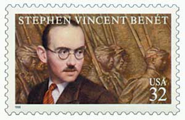 1998 32c Literary Arts: Stephen Vincent Benet