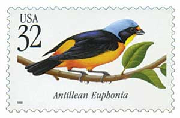 1998 32c Antillean Euphonia Tropical Bird