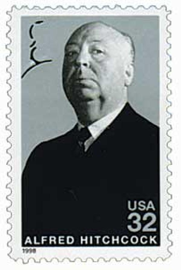 1998 32c Legends of Hollywood: Alfred Hitchcock