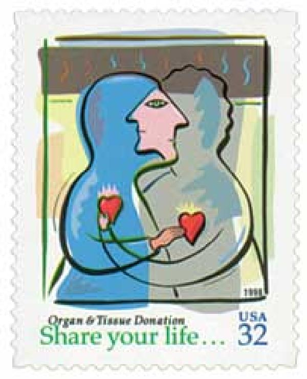 1998 32c Organ and Tissue Donation