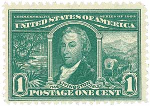 U.S. #323 from the Louisiana Purchase centennial issue.