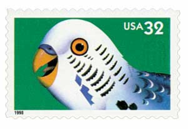 1998 32c Bright Eyes: Parakeet