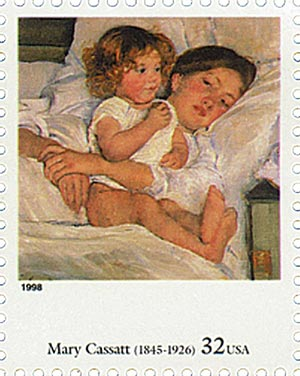 1998 32c Four Centuries of American Art: Mary Cassatt