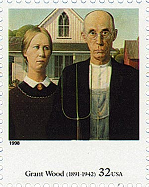 1998 32c Four Centuries of American Art: Grant Wood