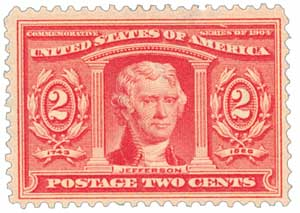 1904 2c Thomas Jefferson