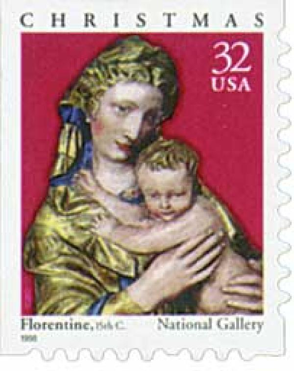 1998 32c Traditional Christmas: Madonna and Child