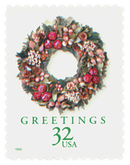 1998 32c Contemporary Christmas: Victorian Wreath