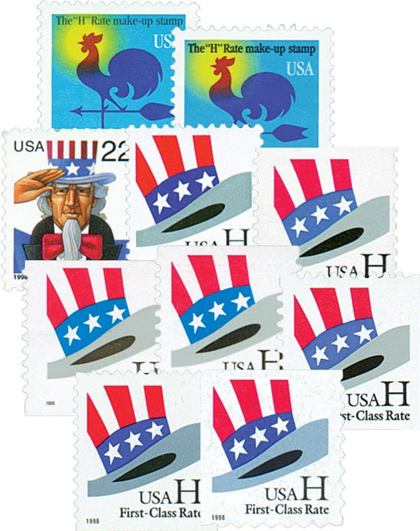 1998 H-Rate Change, set of 10 stamps