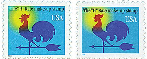 1998 1c Weather Vane, set of 2 stamps
