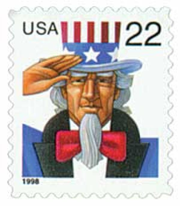 1998 22c Uncle Sam
