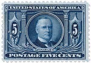 1904 5c William McKinley, dark blue