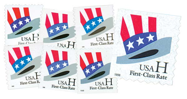 1998-99 H-Rate Change, set of 7 stamps