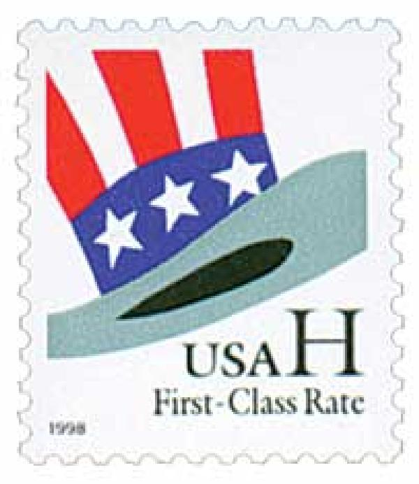 1998 33c H-rate Uncle Sam's Hat for sale at Mystic Stamp Company