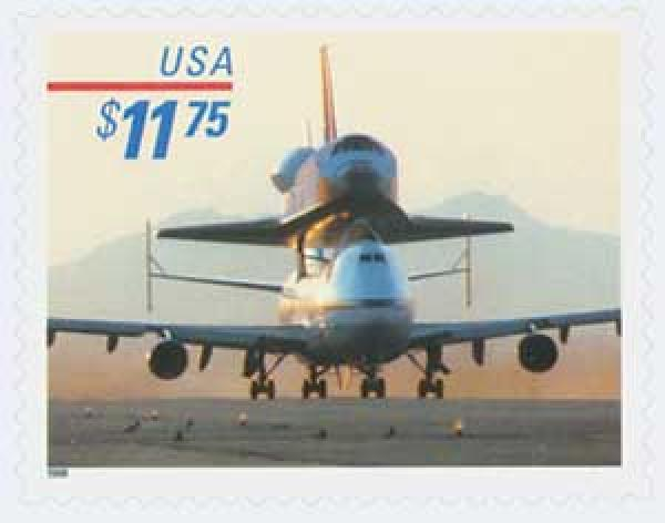 1998 $11.75 Piggyback Space Shuttle, Express Mail