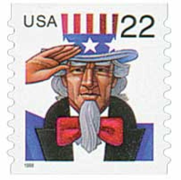 1998 22c Uncle Sam, coil