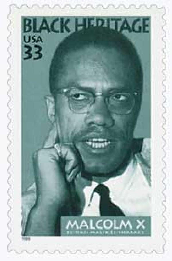 1999 33c Black Heritage: Malcolm X