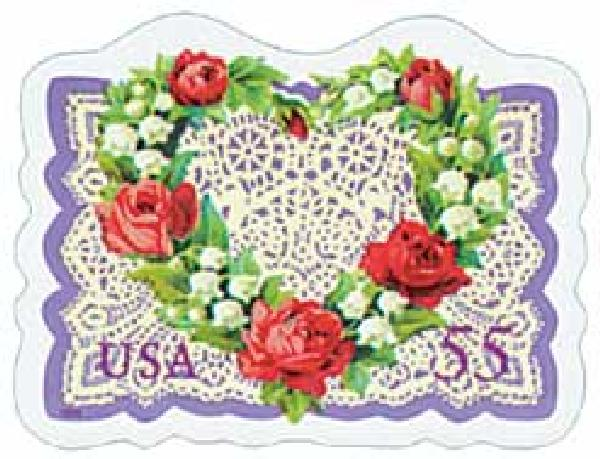 1999 55c Love Series: Victorian Flower Heart and Lace