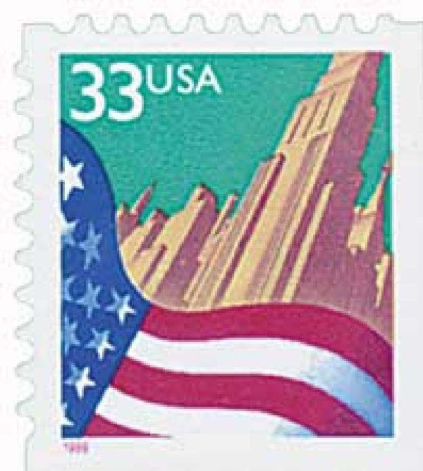 1999 Flag and City stamp