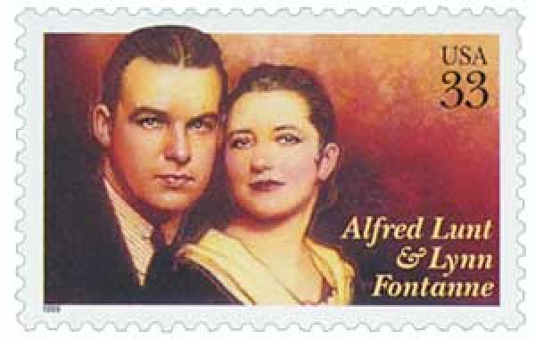1999 33c Performing Arts: Alfred Lunt and Lynn Fontanne