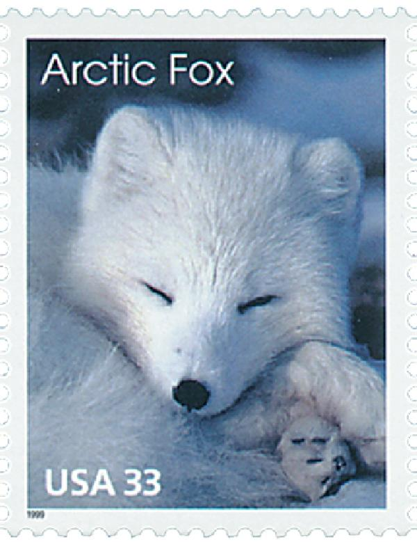 1999 33c Arctic Animals: Arctic Fox