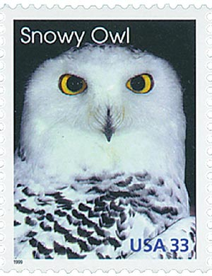1999 33c Arctic Animals: Snowy Owl