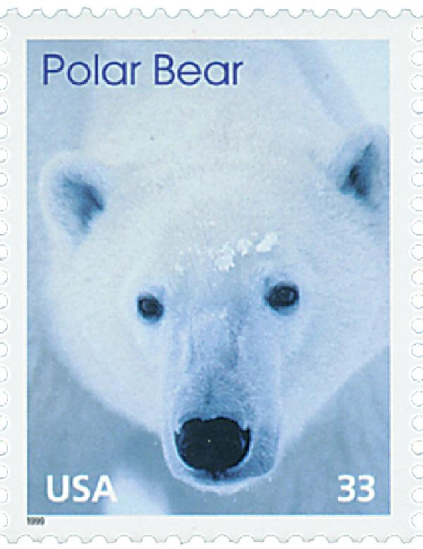 1999 33c Arctic Animals: Polar Bear