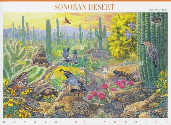 1999 33c Nature of America: Sonoran Desert Desert