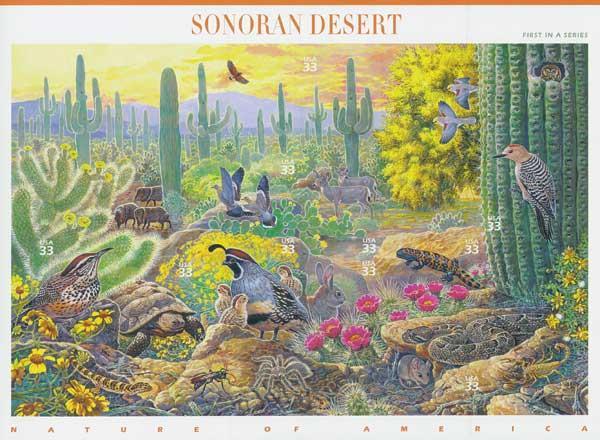 1999 33c Nature of America: Sonoran Desert Desert