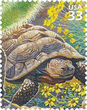 1999 33c Sonoran Desert: Desert Tortoise