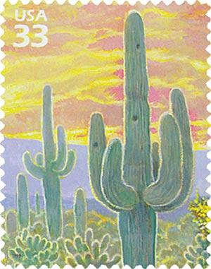 1999 33c Sonoran Desert: Saquaro Cactus