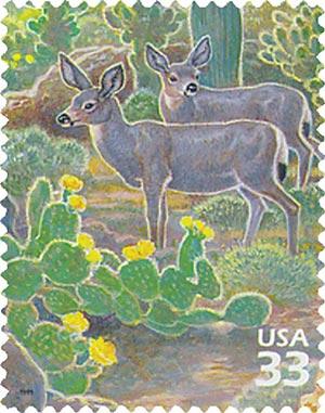 1999 33c Sonoran Desert: Desert Mule Deer