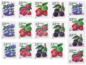 1999-2000 Fruit Berries, set of 16 stamps