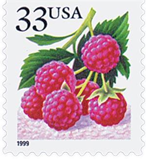 1999 33c Raspberry, s/a