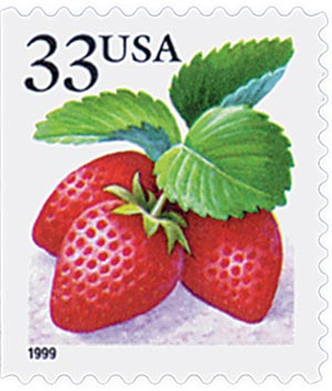 1999 33c Strawberry